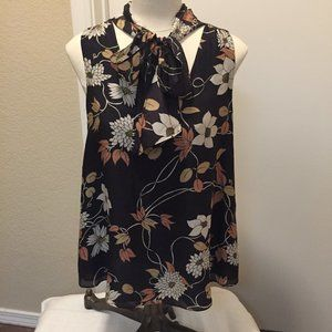 Anthro Maeve sleeveless blouse with tie